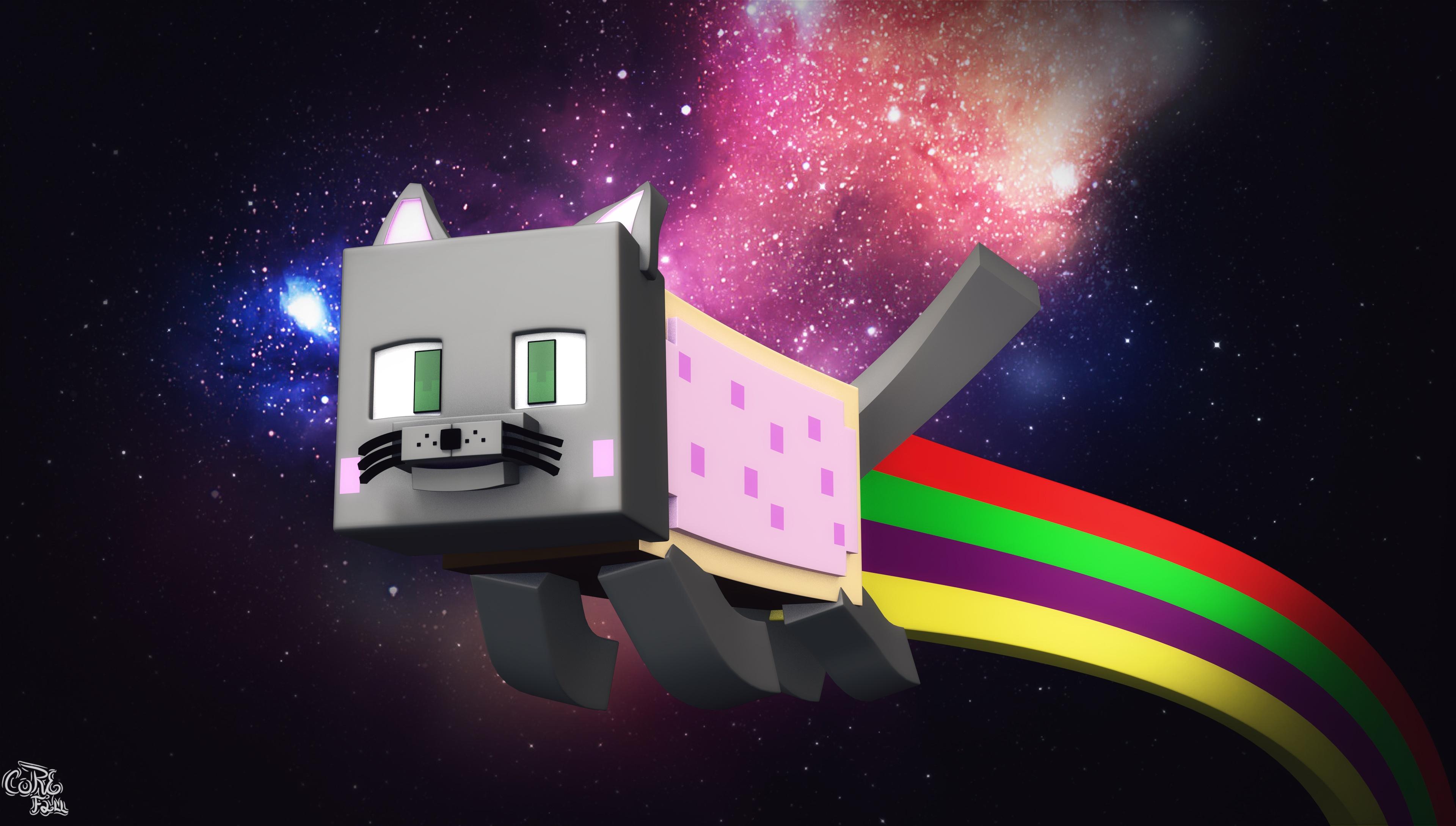 Cinema 4D MC Nyan Cat