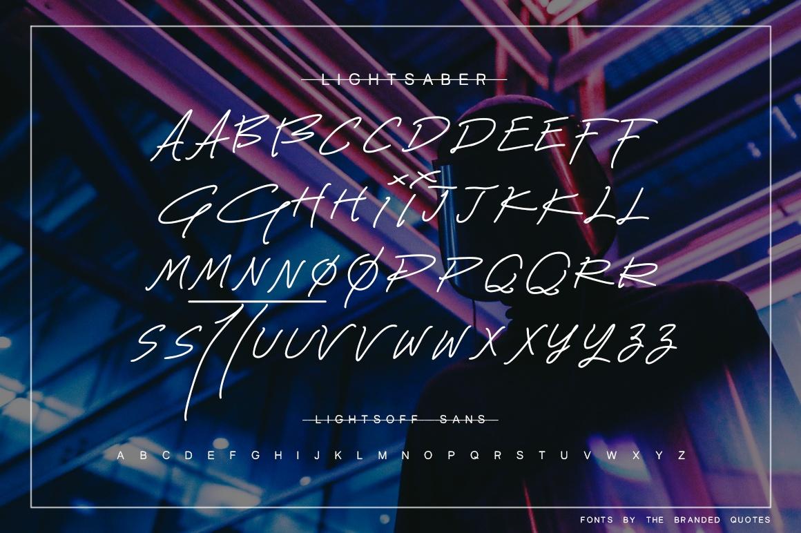 Lightsaber Font + Neon Animation