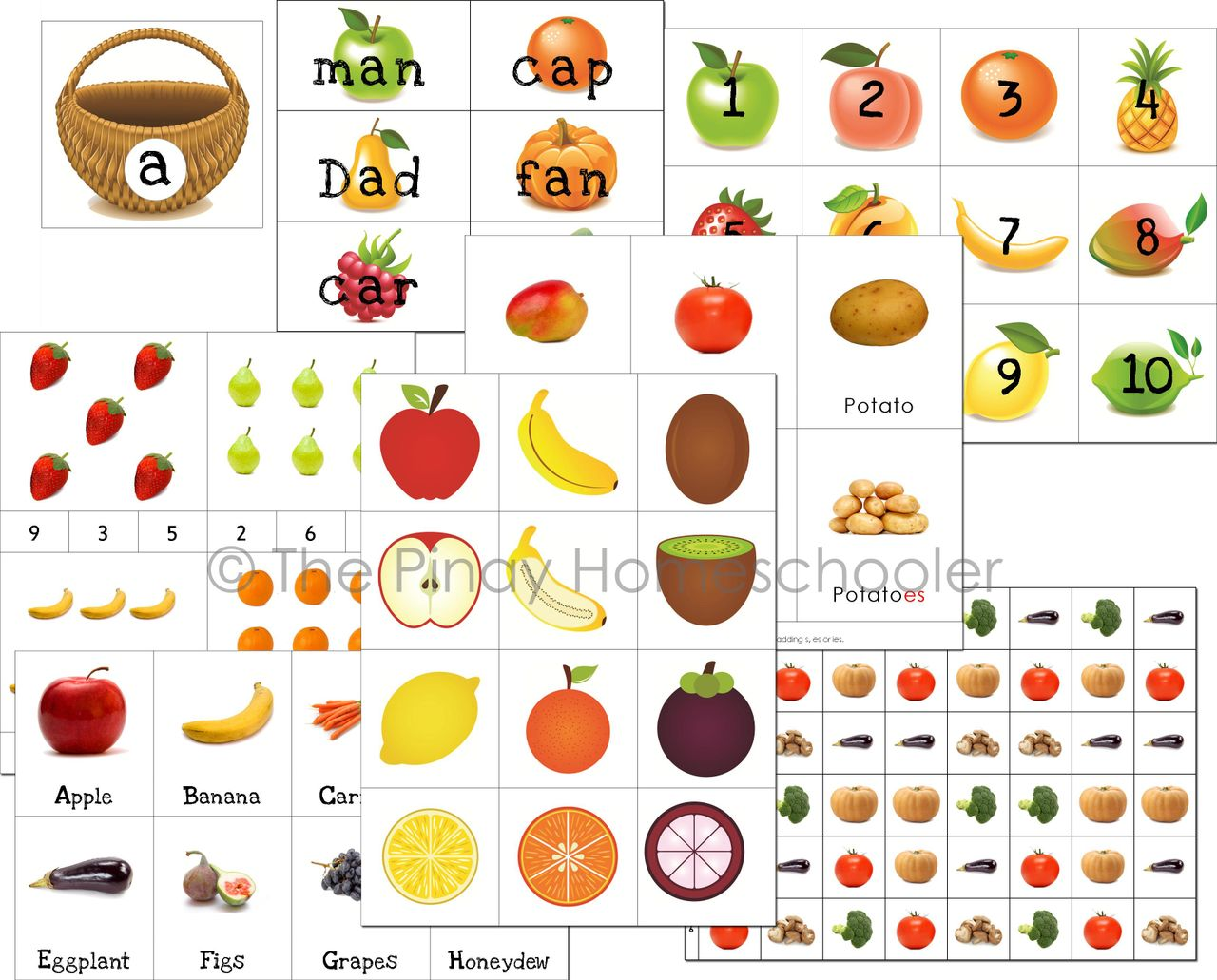 Fruits and Vegetables Unit Pack
