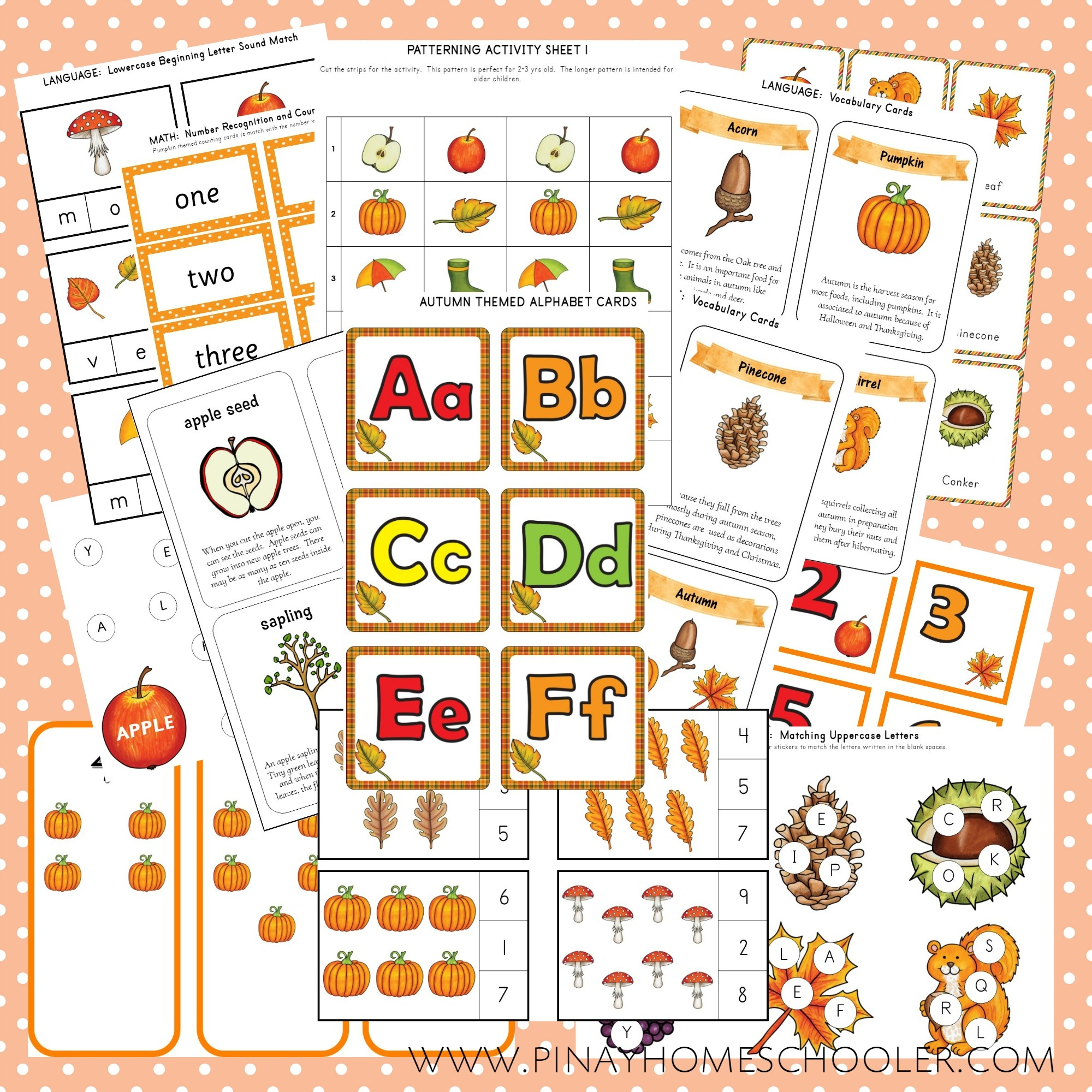 Autumn Themed Bundle Pack (Preschool Unit)