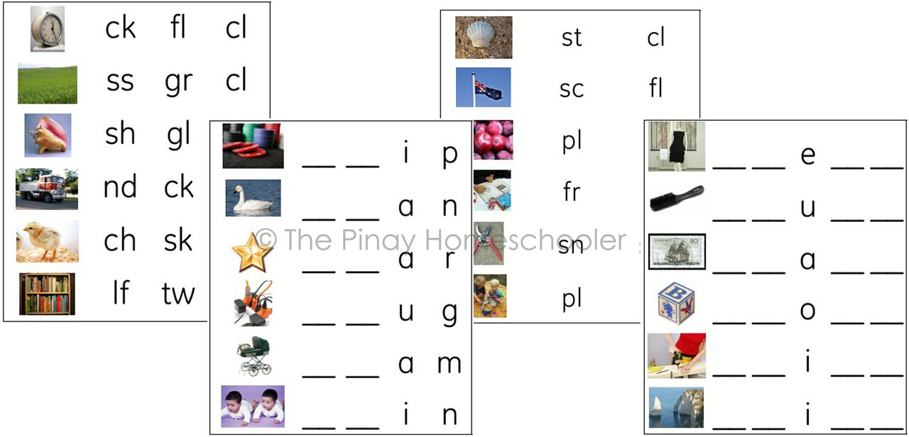 Worksheet Blends Activities consonant blends activity sheet pinay homeschooler pdf shop sheet