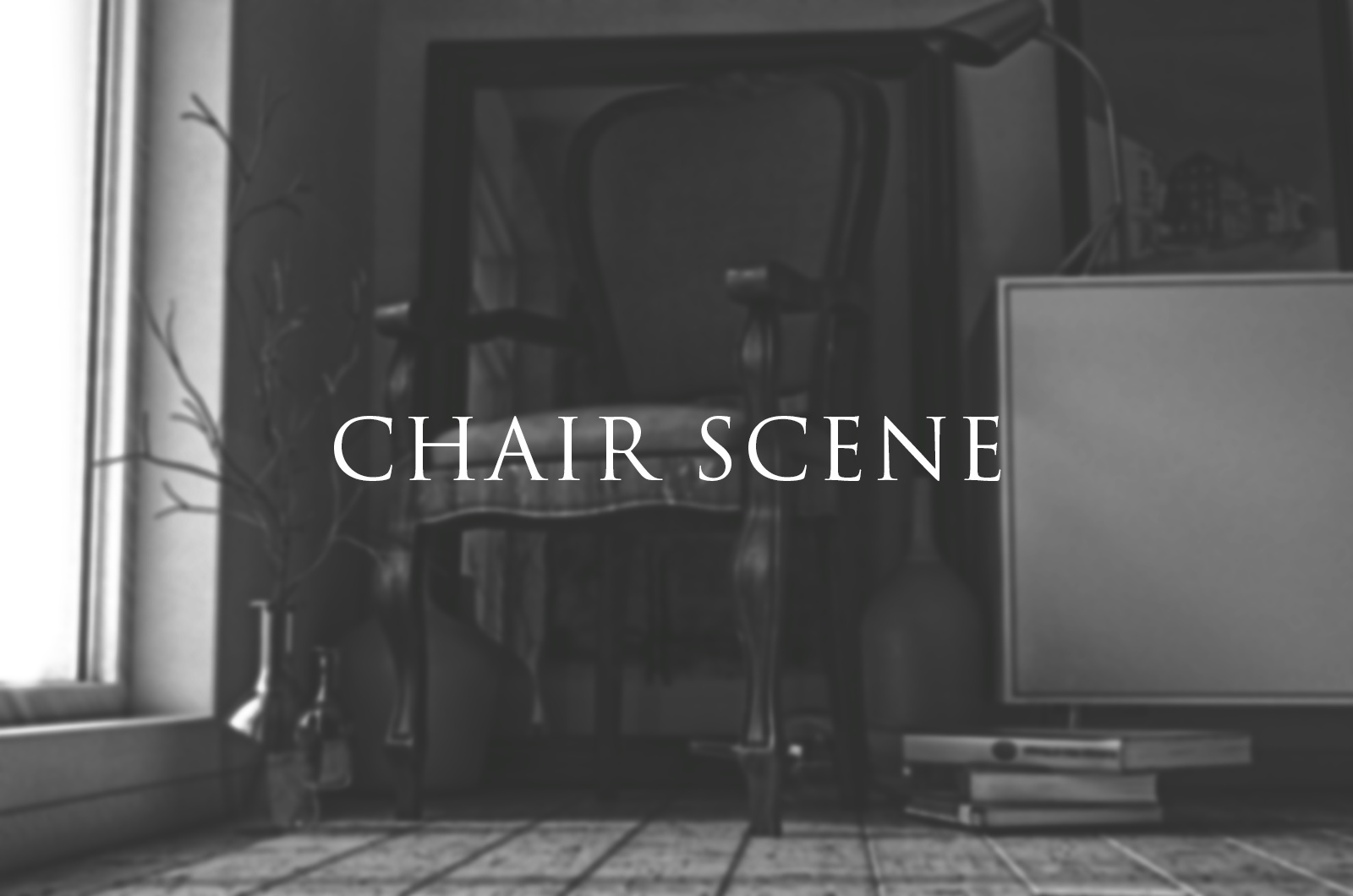 Old chair scene-