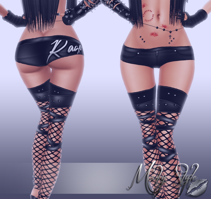 ~ Rage short pants (sis3d compatible) ~
