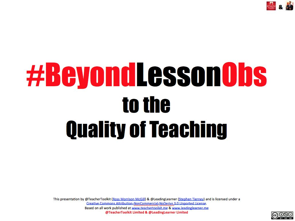 #BeyondLessonObs by @LeadingLearner & @TeacherToolkit