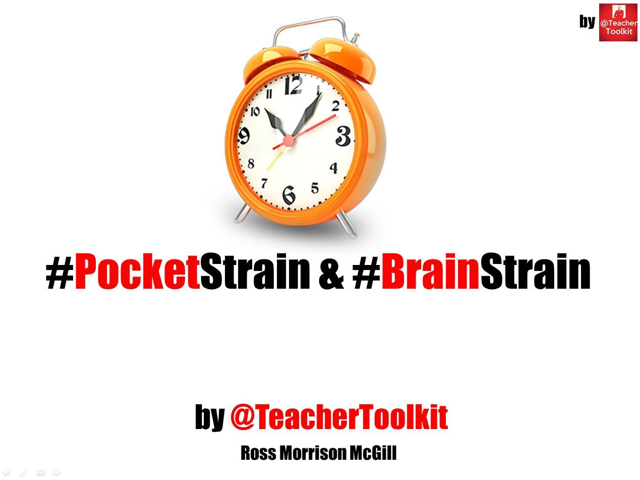 #PocketStrain and #BrainStrain by @TeacherToolkit
