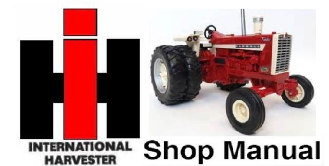 IH International Harvester Hydro 100-Hydro 186 & 1466-1468-1486-1566-1568-1586 Shop Manual