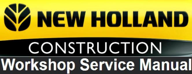 New Holland E150BSR Blade Runner Excavator Service Repair Manual
