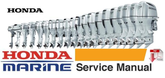 Honda B75 Twin (4-Cylinder) Marine Outboard Service Repair Workshop Manual