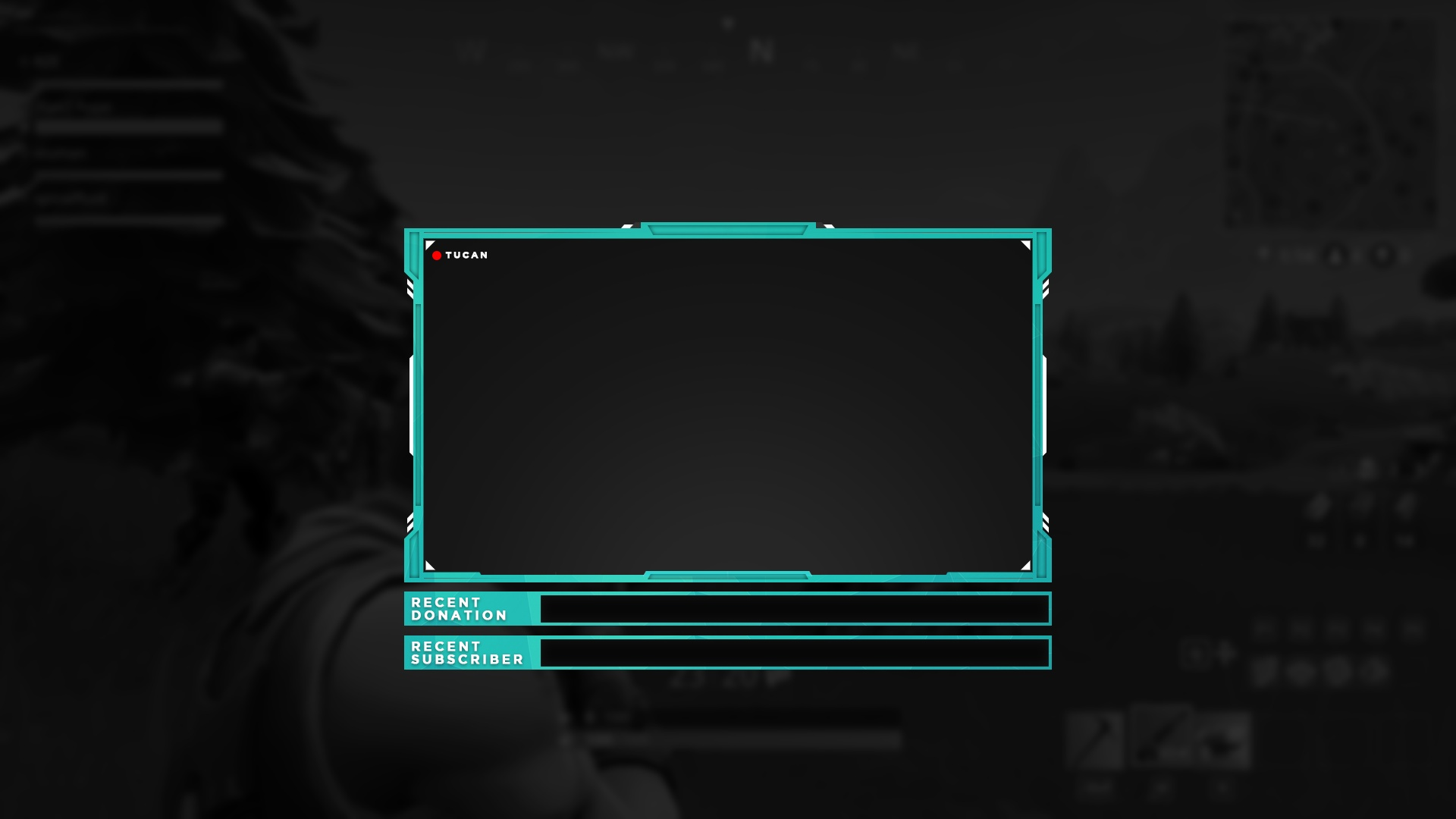 Webcam Overlay PSD