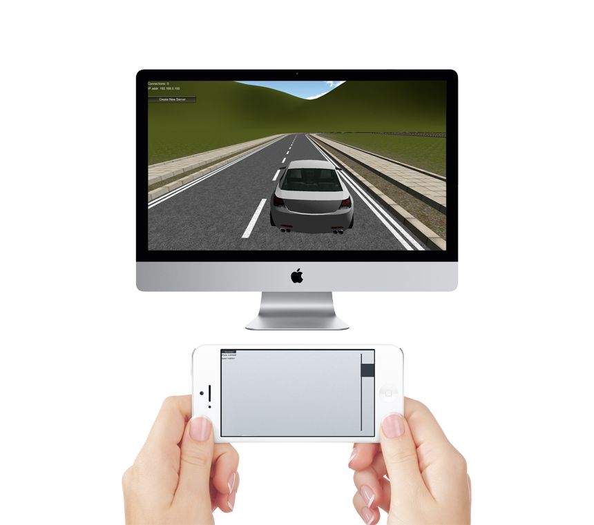 Remote game with iPhone/Android Car_cover