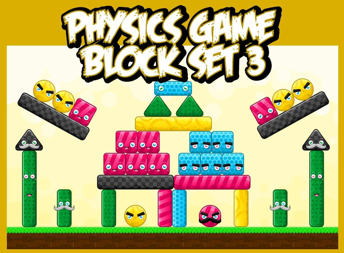 Cute Physics Game Block Set