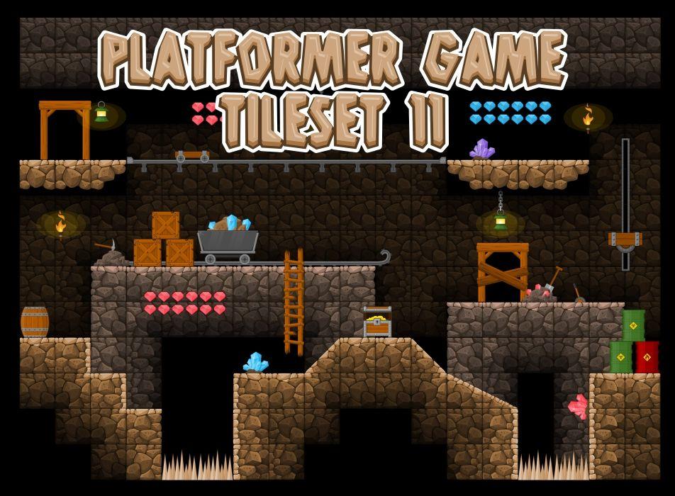 Underground Mine - Game Tileset