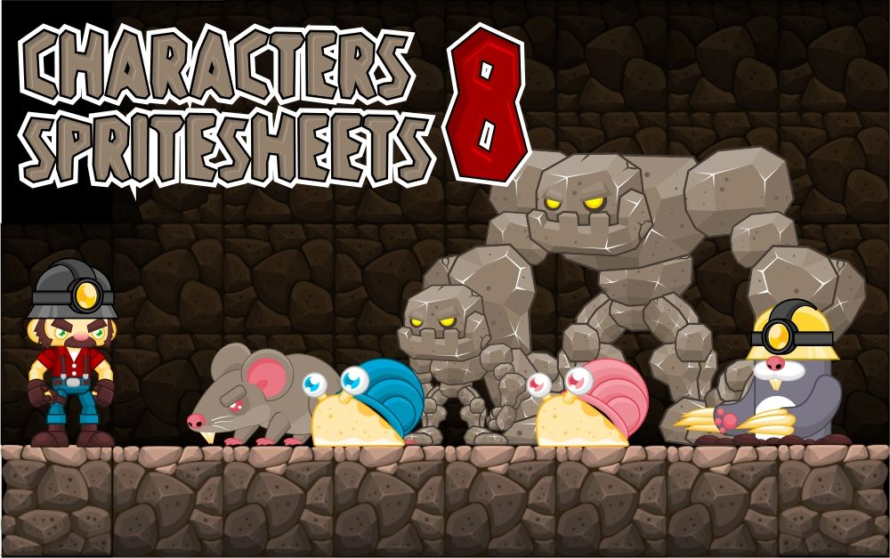 Bob the Miner - Game Sprites