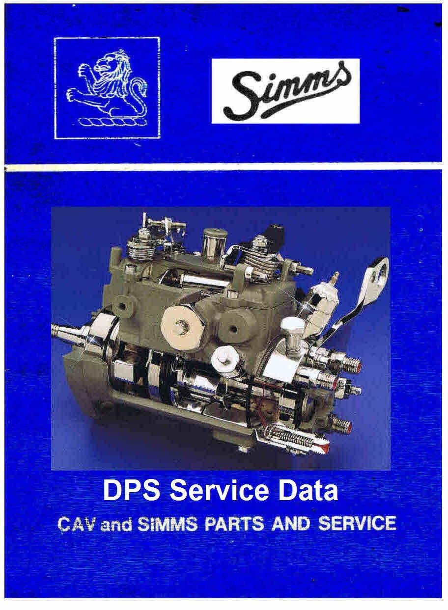 Lucas Cav Dps Service Manuals For Mechanics Injection Pump Diagram On Perkins Fuel