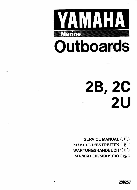 Yamaha Outboard Engine 2B 2C and 2U Service and Repair Manual