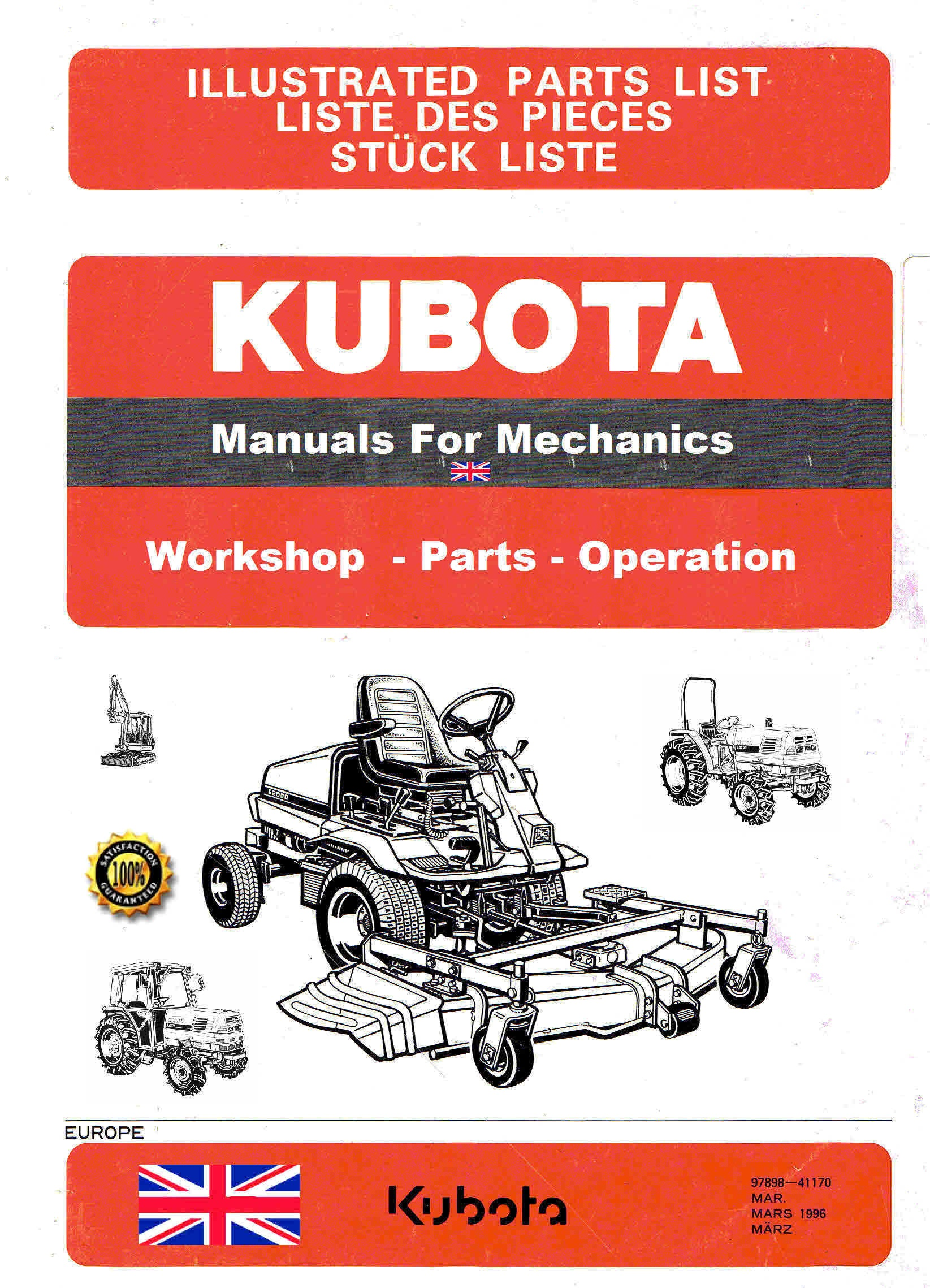 Kubota Manuals for Mechanics