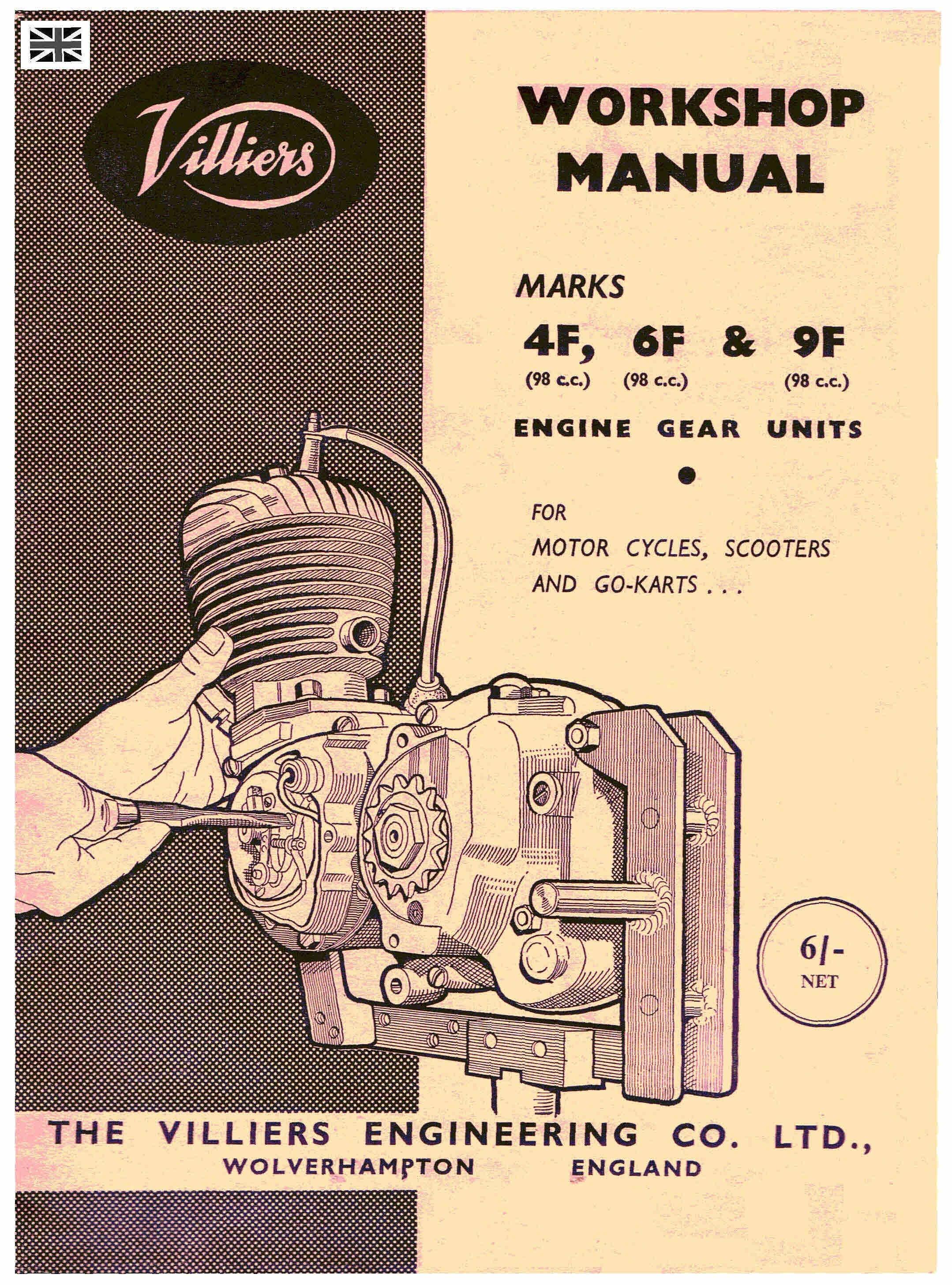 Villiers 4 - 6 - 9F Workshop Service and Repair Manual