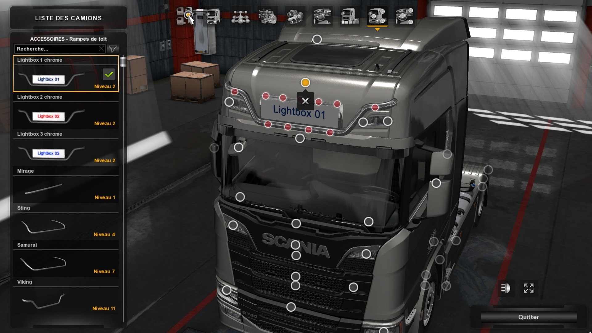 Lightbox Scania next | High Cabin