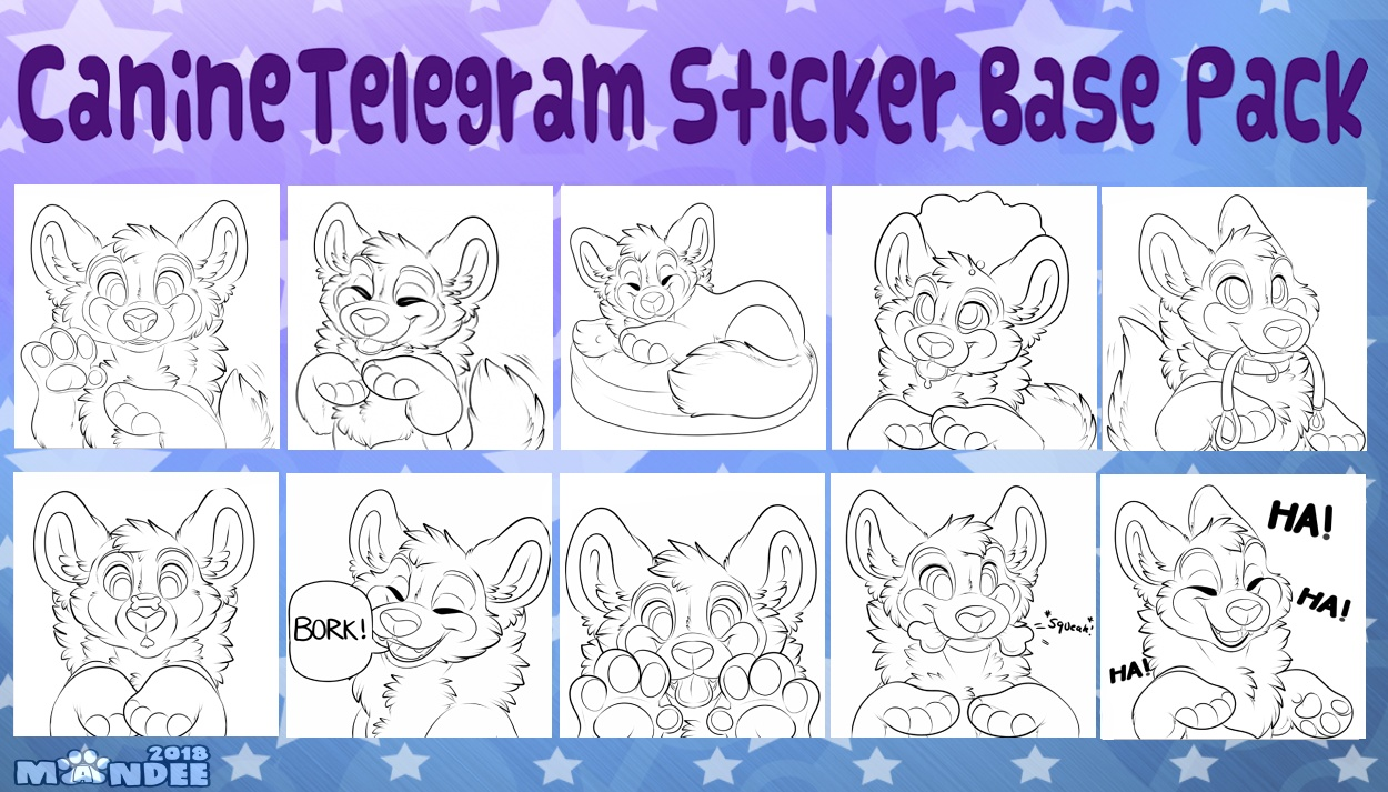 Canine Telegram Sticker Base Pack
