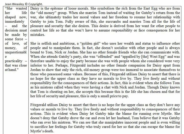 great gatsby dialectical journal