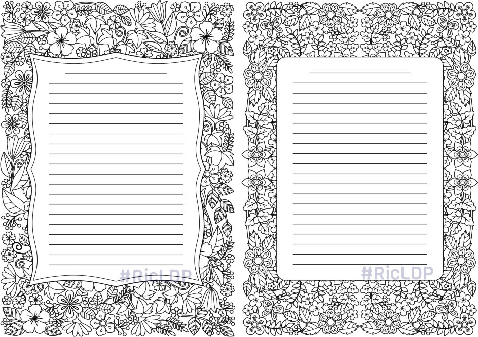 4 Coloring Journals