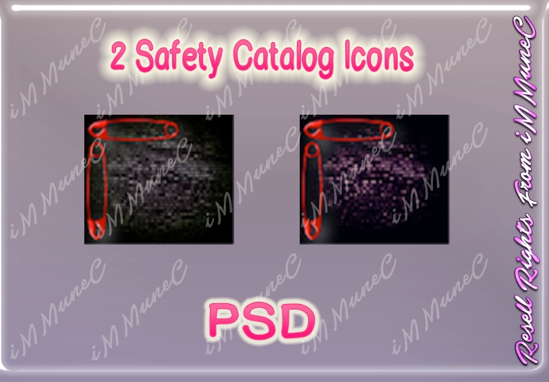 2 Safety Catalog Icons PSD (Halloween)