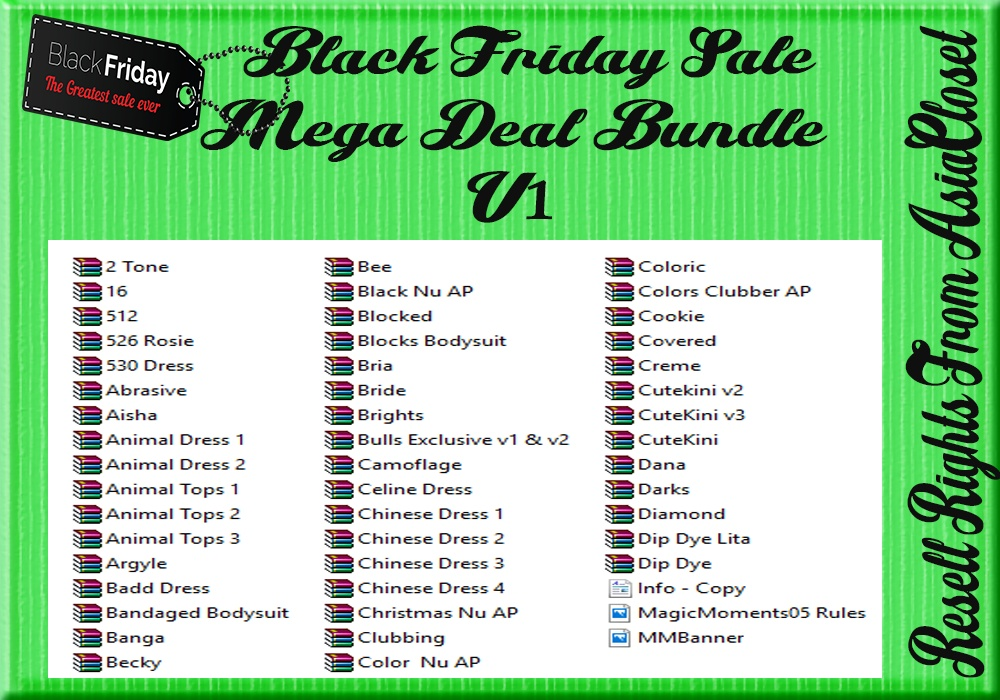 Black Friday Sale Mega Deal Bundle V1 Catty Only!!!