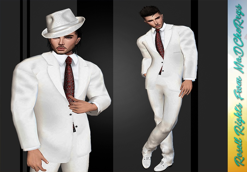 Wedding Suit White Catty Only!!!!!