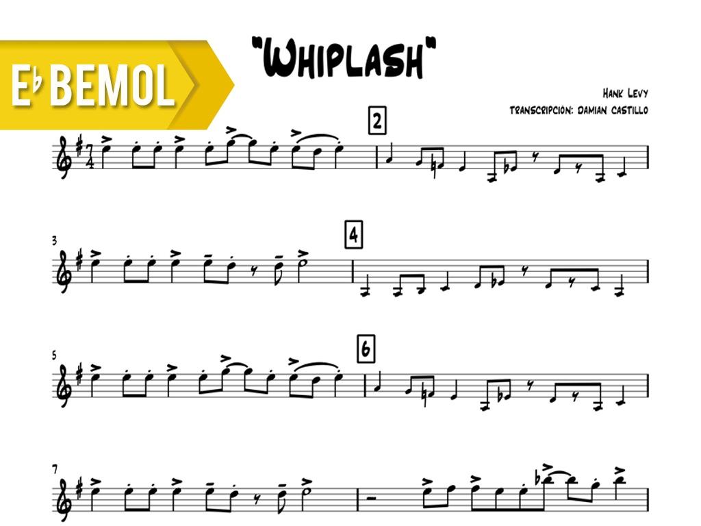 "Hank Levy - ""Whiplash"" - Eb"