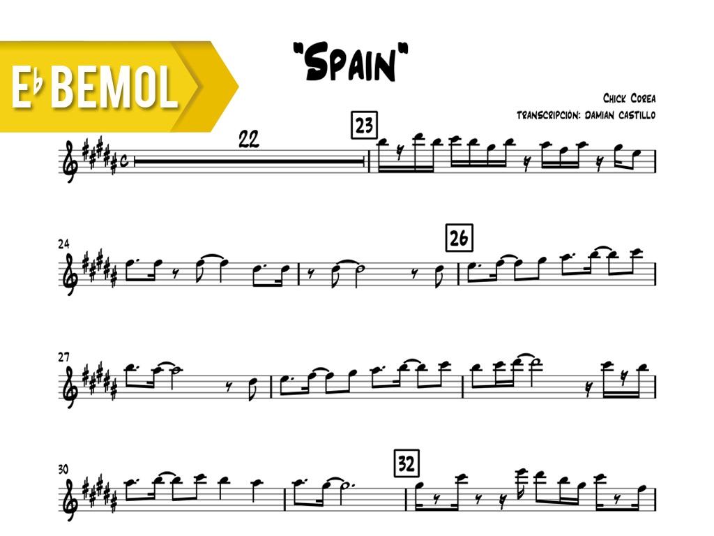 """Chick Corea - """"Spain"""" - Eb"""