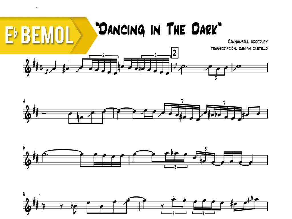 "Cannonball Adderley - ""Dancing In The Dark"" - Eb"