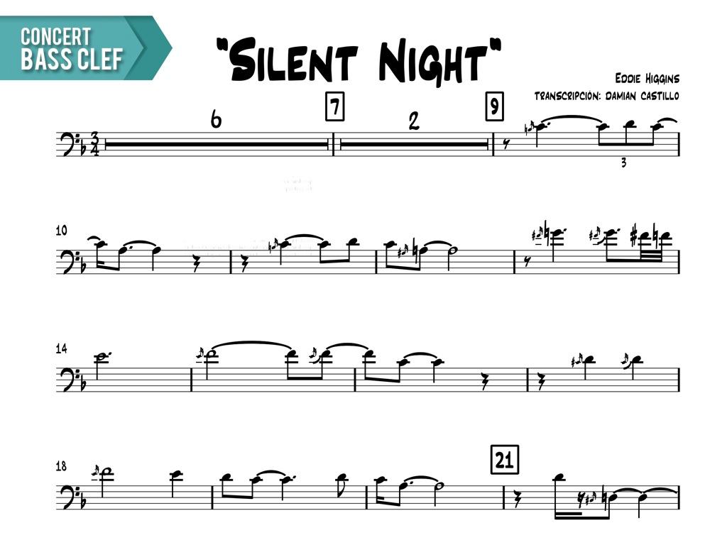 """Eddie Higgins - """"Silent Night"""" - Concert Bass Clef"""