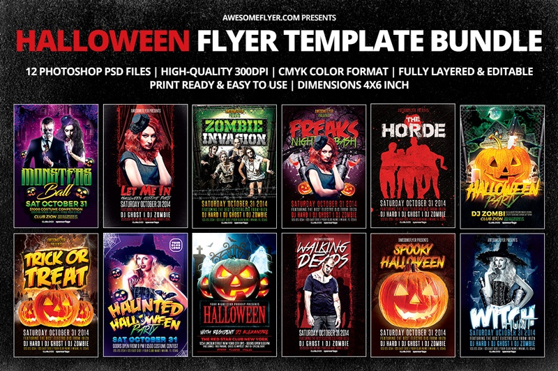 Halloween Flyer Template Bundle