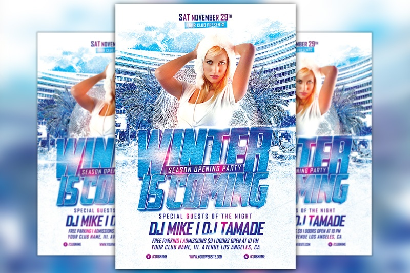 Winter is Coming Party Flyer Template