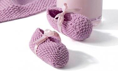 Lavender Booties