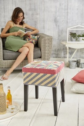 Graphic Stool Cover