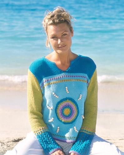 Beaded Beach Pullover