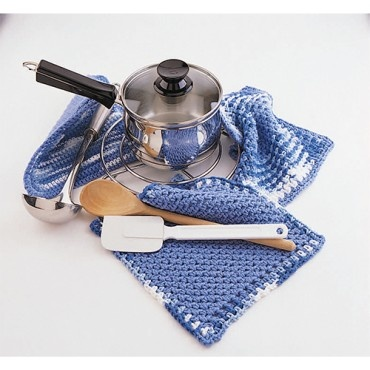 The Blues-Dishcloth & Potholder