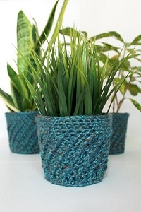 Crochet Spiral Plant Cover