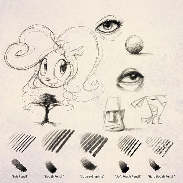 Sketchyfun Photoshop Pencil Set #1