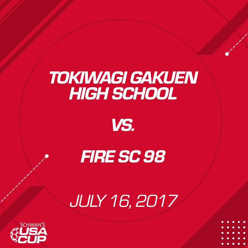 Girls U19 - July 16, 2017 - Tokiwagi Gakuen High School V. Fire SC 98