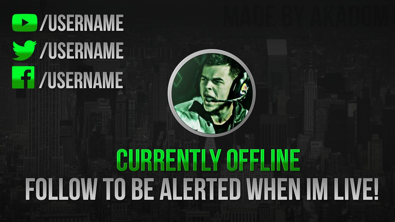 how to add offline image twitch