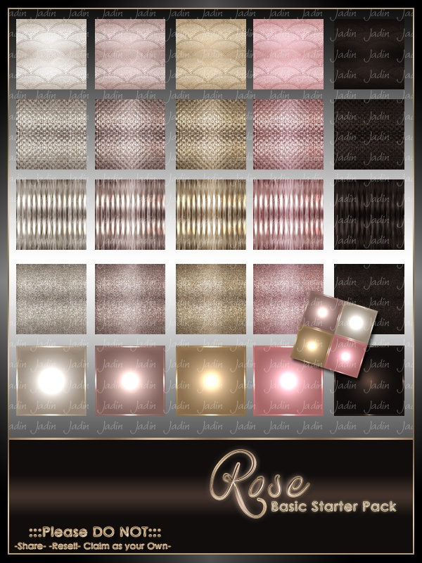 Birthstone October--Rose Basic Texture Pack-- $2.00