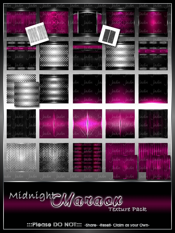 Midnight Maraon Texture Pack -- $10.00