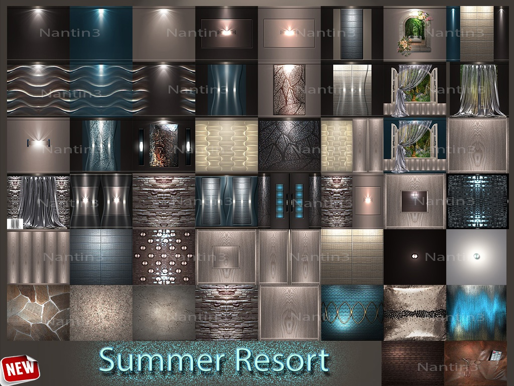 Summer Resort  51 Textures 256x256jpg.