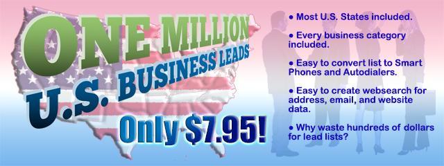 One Million U.S. Business Leads