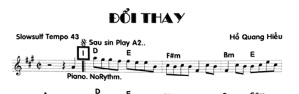 Band Sheet -  Doi Thay  - Ho Quang Hieu - Key: D