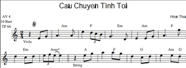 Band Sheet -  Cau Chuyen Tinh Toi  - Hien Thuc- Key: Am