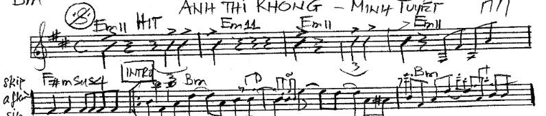 Band Sheet -  Anh Thi Khong  - Minh Tuyet- Key: Bm