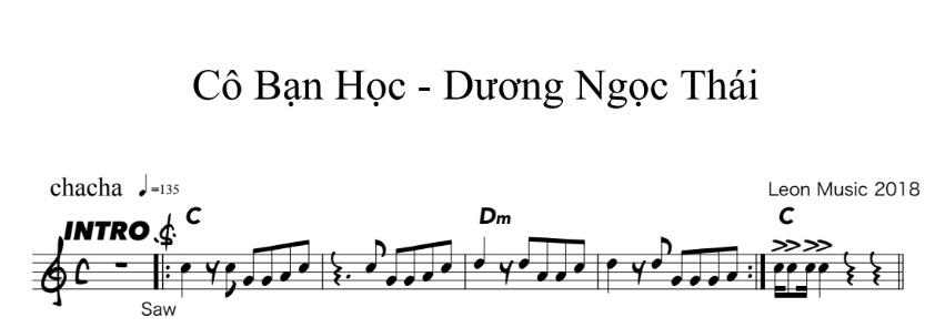 Band Sheet -  Co Ban Hoc - Duong Ngoc Thai- Key: C